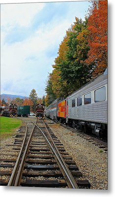 Metal Print featuring the photograph Trains Of Nh by Amazing Jules