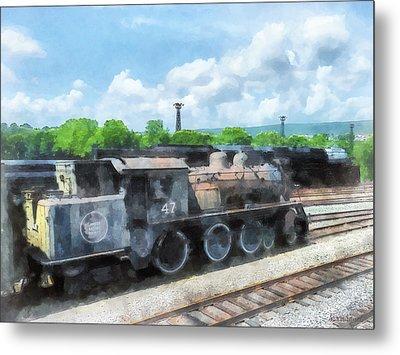 Trains - Old Locomotive Metal Print
