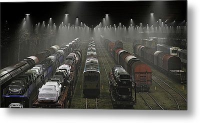 Trainsets Metal Print by Leif L?ndal