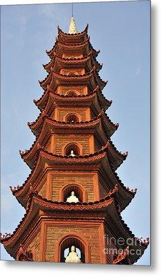Tran Quoc Pagoda In Hanoi Metal Print by Sami Sarkis