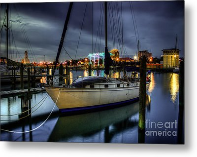 Tranquil Harbour Evening Metal Print by Maddalena McDonald