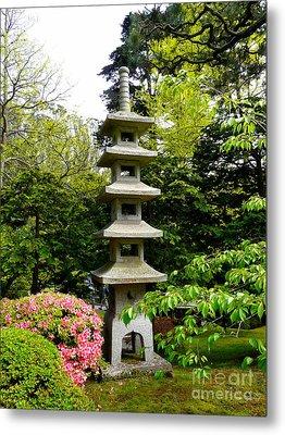 Tranquil Japanese Garden Metal Print by Avis  Noelle