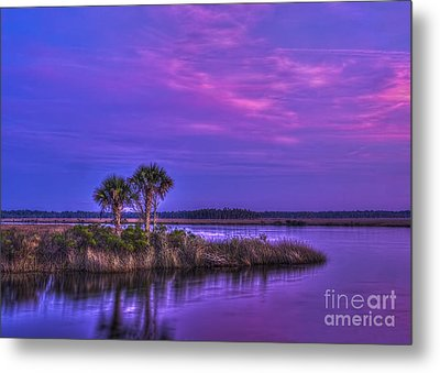 Tranquil Palms Metal Print by Marvin Spates