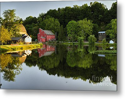 Tranquil River Reflections  Metal Print by George Oze