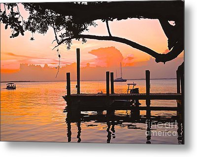 Tranquil Sunset Metal Print by Judy Kay