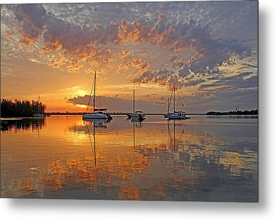 Tranquility Bay - Florida Sunrise Metal Print by HH Photography of Florida