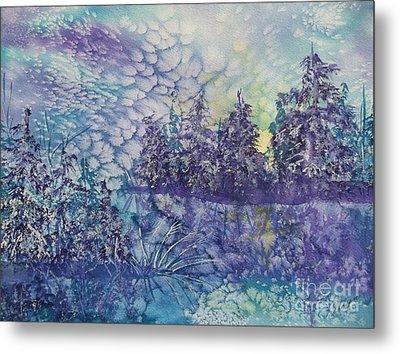 Metal Print featuring the painting Tranquility by Ellen Levinson