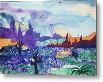 Metal Print featuring the painting Tranquility II by Ellen Levinson