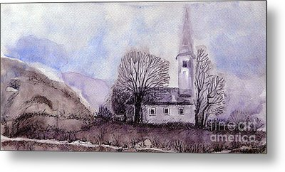 Metal Print featuring the painting Tranquility by Jasna Dragun