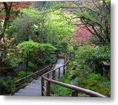 Tranquility Lane Metal Print by Shirley Sirois