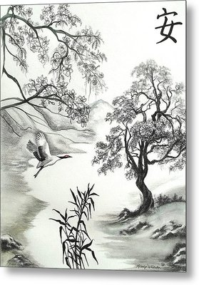 Tranquility W Kona Moringa Metal Print