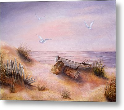 Metal Print featuring the painting Tranquility by Roseann Gilmore