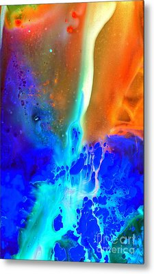 Metal Print featuring the painting Transfer by Christine Ricker Brandt