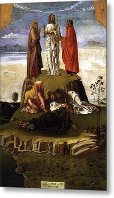 Metal Print featuring the painting Transfiguration Of Christ On Mount Tabor 1455 Giovanni Bellini by Karon Melillo DeVega