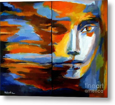 Metal Print featuring the painting Transition - Diptic by Helena Wierzbicki