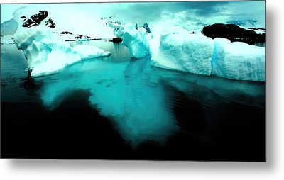 Metal Print featuring the photograph Transparent Iceberg by Amanda Stadther