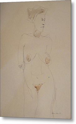 Transparent Nude Metal Print by Esther Newman-Cohen