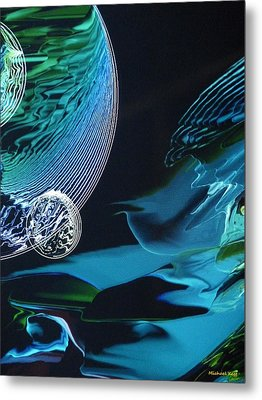 Transparent Planet Metal Print by Michael Kegg
