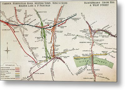 Transport Map Of London Metal Print by English School