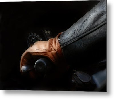 Leather Goes For A Ride Metal Print