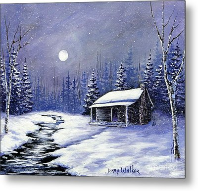 Trapper's Cabin Metal Print by Jerry Walker