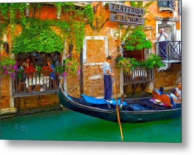 Metal Print featuring the photograph Trattoria Sempione by Juan Carlos Ferro Duque