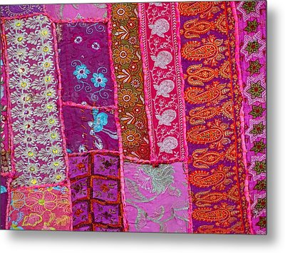 Travel Shopping Colorful Tapestry 1 India Rajasthan Metal Print by Sue Jacobi