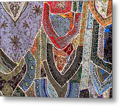 Travel Shopping Colorful Tapestry 6 India Rajasthan Metal Print
