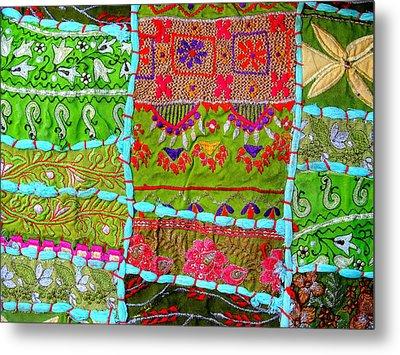 Travel Shopping Colorful Tapestry Series 10 India Rajasthan Metal Print