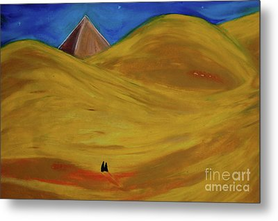 Metal Print featuring the drawing Travelers Desert by First Star Art