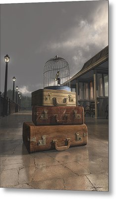 Traveling Metal Print by Cynthia Decker
