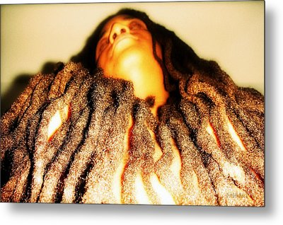 Traveling In The Body He Gave Me Metal Print by Fania Simon