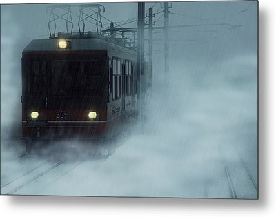 Traveling In The Snow... Metal Print