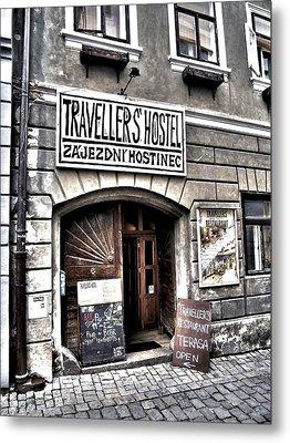 Metal Print featuring the photograph Travellers Hostel - Cesky Krumlov by Juergen Weiss