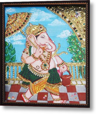 Travelling Ganesh Metal Print by Jayashree