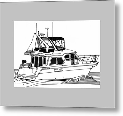 Trawler Yacht Metal Print by Jack Pumphrey