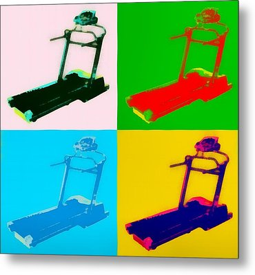 Treadmill Pop Art Metal Print