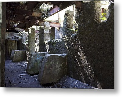 Treadwell Mine Interior Metal Print by Cathy Mahnke