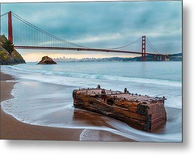 Treasure And The Golden Gate Bridge Metal Print