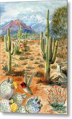 Treasures Of The Desert Metal Print by Marilyn Smith