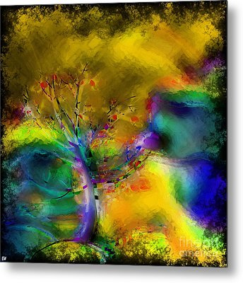 Tree Abstract - Bold Is Beautiful Metal Print by Liane Wright