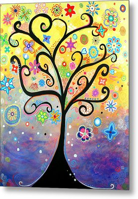 Tree Art Fantasy Abstract Metal Print by Bob Baker and Pooki Lee