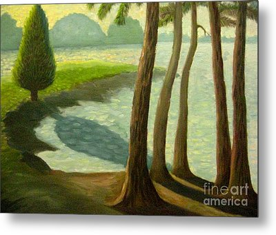Tree Gossip At Galt's Ferry Metal Print