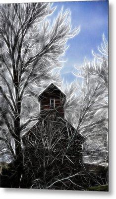 Tree House Metal Print by Steve McKinzie