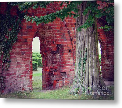 Metal Print featuring the photograph Tree In An Old Cloister by Art Photography