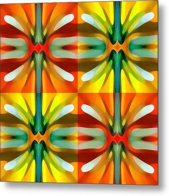 Tree Light Square Pattern Metal Print by Amy Vangsgard