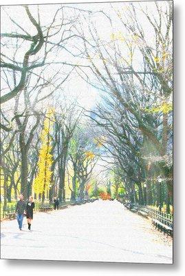 Tree Lovers Lane Metal Print