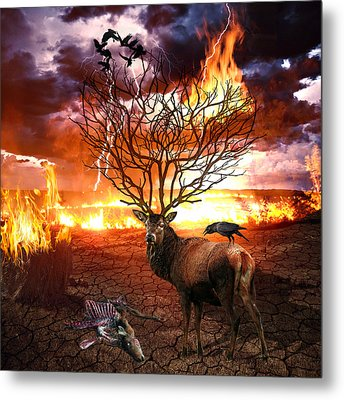 Tree Of Death Metal Print by Marian Voicu