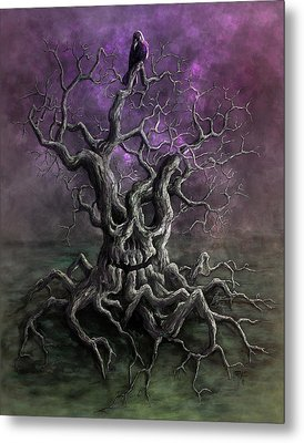 Tree Of Death Metal Print by Rob Carlos