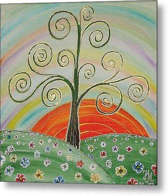 Tree Of Happiness Metal Print by Nina Mitkova